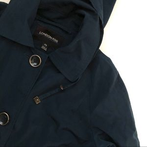 London Fog Deep Teal Jacket - size petite small